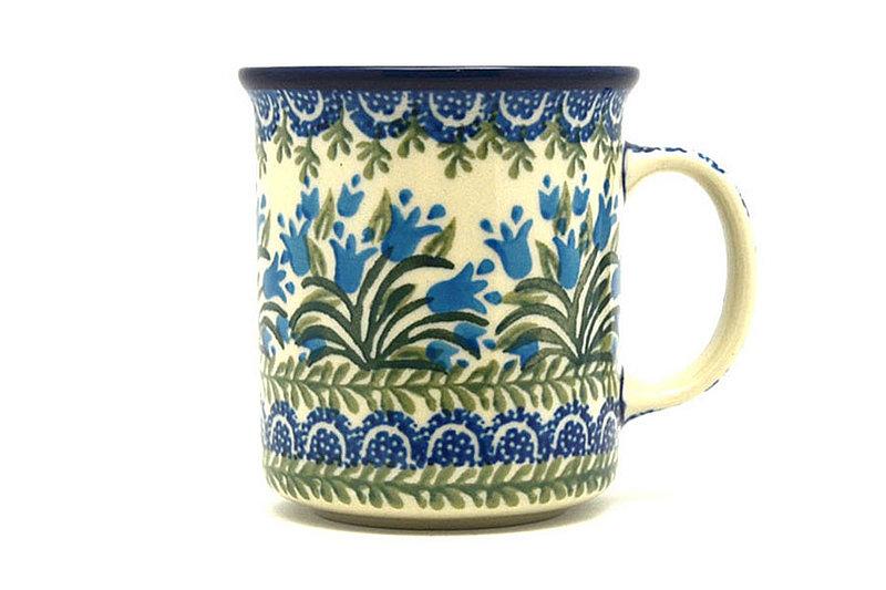 Ceramika Artystyczna Polish Pottery Mug - Straight Sided - Blue Bells 236-1432a (Ceramika Artystyczna)