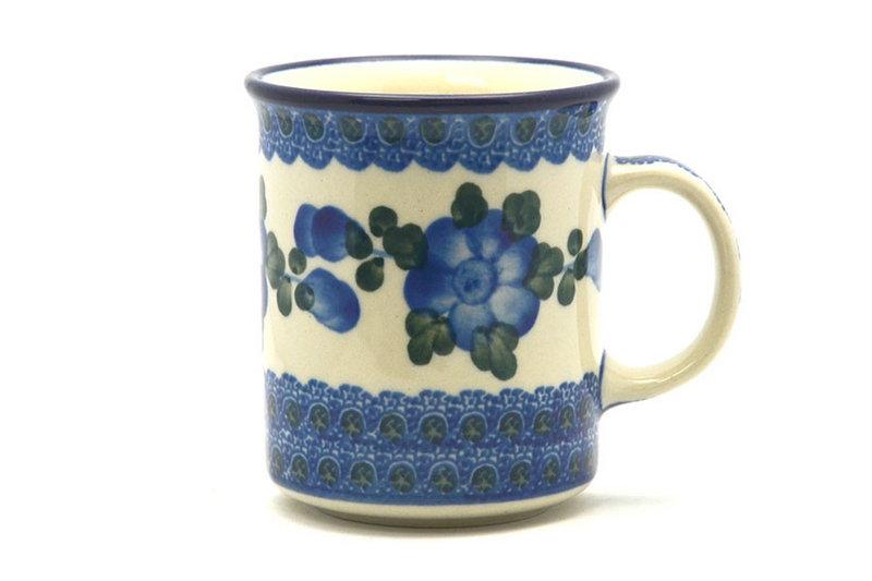 Ceramika Artystyczna Polish Pottery Mug - Straight Sided - Blue Poppy 236-163a (Ceramika Artystyczna)