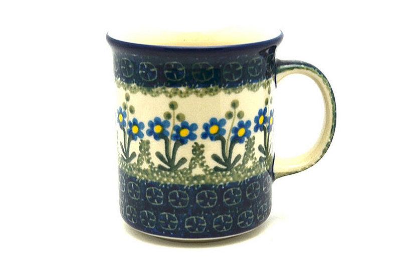 Ceramika Artystyczna Polish Pottery Mug - Straight Sided - Blue Spring Daisy 236-614a (Ceramika Artystyczna)