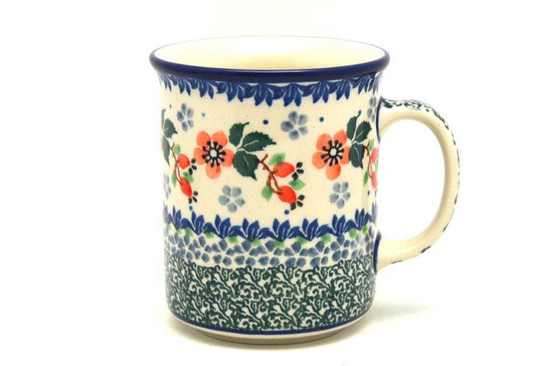 Ceramika Artystyczna Polish Pottery Mug - Straight Sided - Cherry Blossom 236-2103a (Ceramika Artystyczna)