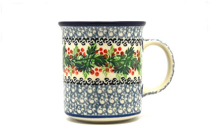 Ceramika Artystyczna Polish Pottery Mug - Straight Sided - Holly Berry 236-1734a (Ceramika Artystyczna)
