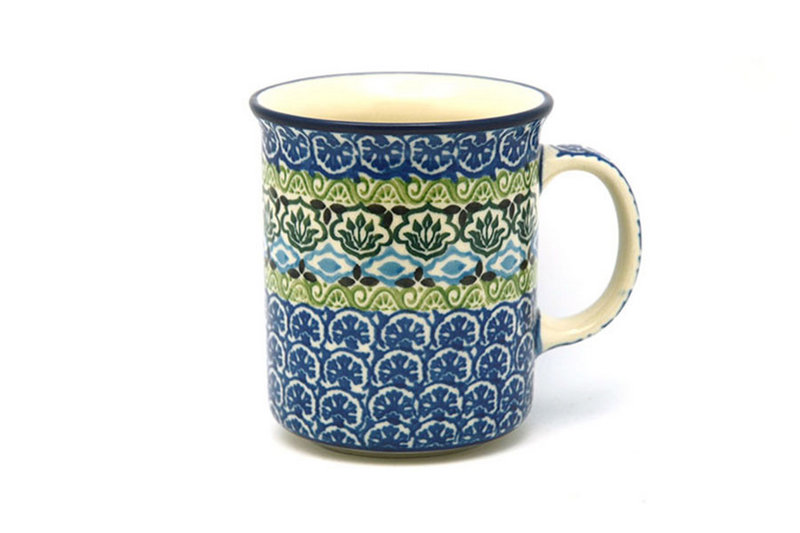 Ceramika Artystyczna Polish Pottery Mug - Straight Sided - Tranquility 236-1858a (Ceramika Artystyczna)