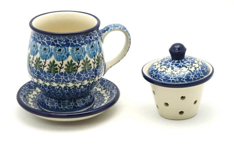 Ceramika Artystyczna Polish Pottery Mug - with Infuser - Antique Rose 122-1390a (Ceramika Artystyczna)
