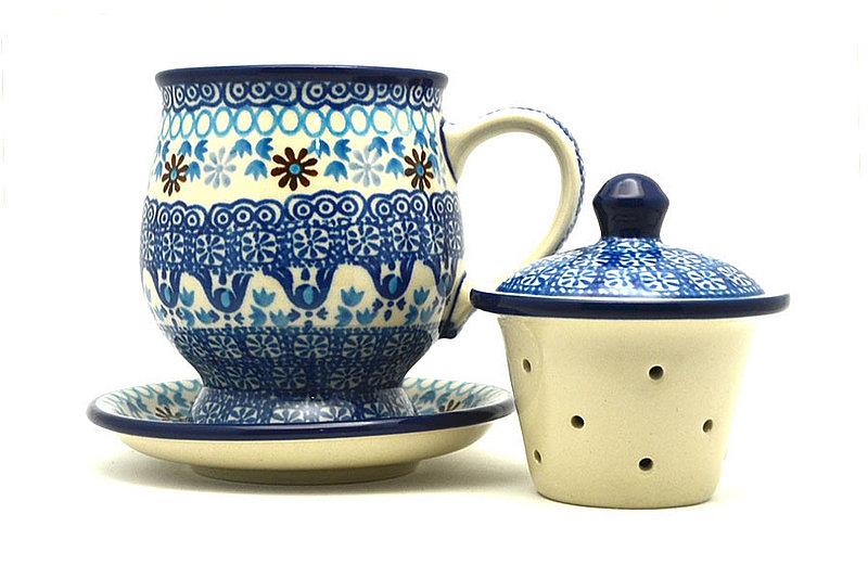 Ceramika Artystyczna Polish Pottery Mug - with Infuser - Blue Yonder 122-2187a (Ceramika Artystyczna)