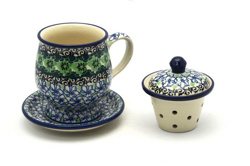 Ceramika Artystyczna Polish Pottery Mug - with Infuser - Kiwi 122-1479a (Ceramika Artystyczna)
