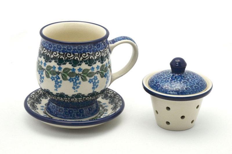 Ceramika Artystyczna Polish Pottery Mug - with Infuser - Wisteria 122-1473a (Ceramika Artystyczna)
