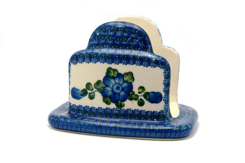 Ceramika Artystyczna Polish Pottery Napkin Holder - Blue Poppy 487-163a (Ceramika Artystyczna)