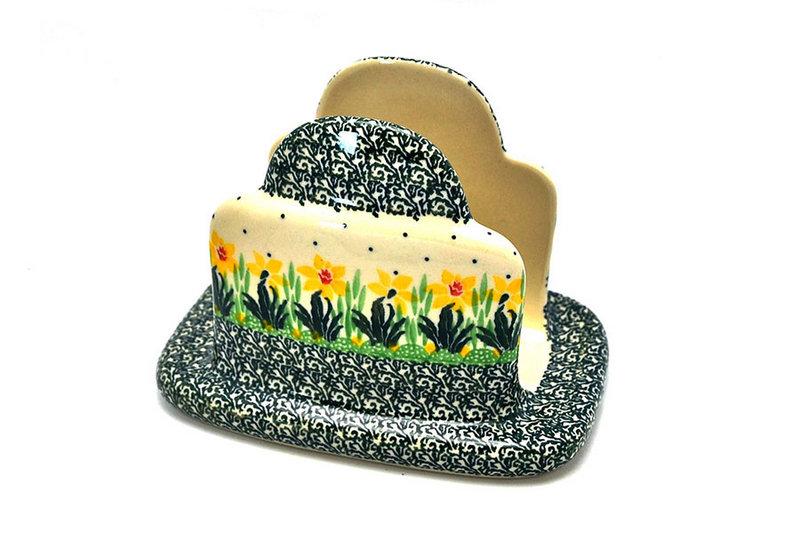 Ceramika Artystyczna Polish Pottery Napkin Holder - Daffodil 487-2122q (Ceramika Artystyczna)
