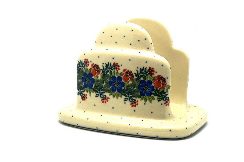 Ceramika Artystyczna Polish Pottery Napkin Holder - Garden Party 487-1535a (Ceramika Artystyczna)