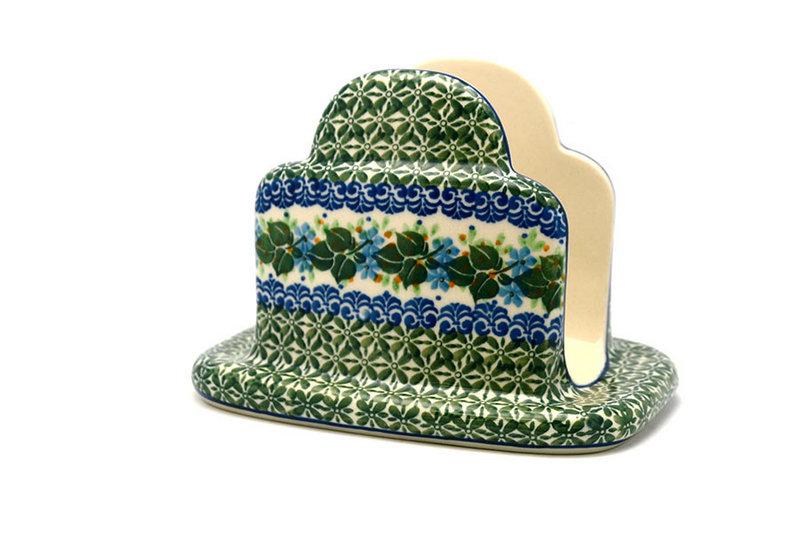 Ceramika Artystyczna Polish Pottery Napkin Holder - Ivy Trail 487-1898a (Ceramika Artystyczna)
