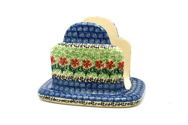 Ceramika Artystyczna Polish Pottery Napkin Holder - Maraschino 487-1916a (Ceramika Artystyczna)