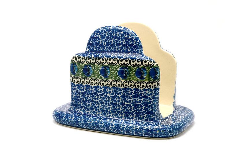 Ceramika Artystyczna Polish Pottery Napkin Holder - Peacock Feather 487-1513a (Ceramika Artystyczna)