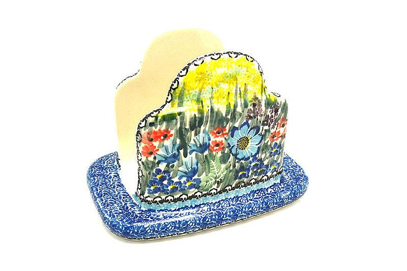Ceramika Artystyczna Polish Pottery Napkin Holder - Unikat Signature - U4558 487-U4558 (Ceramika Artystyczna)