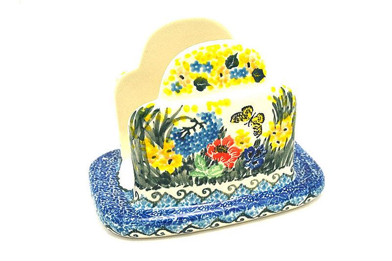 Ceramika Artystyczna Polish Pottery Napkin Holder - Unikat Signature - U4592 487-U4592 (Ceramika Artystyczna)