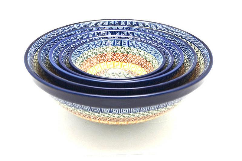 Ceramika Artystyczna Polish Pottery Nesting Bowl Set - Autumn S05-050a (Ceramika Artystyczna)