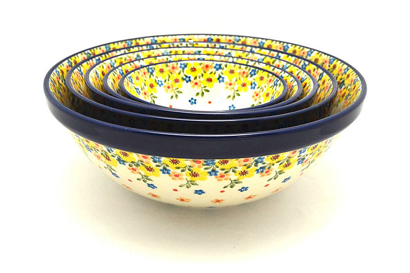 Ceramika Artystyczna Polish Pottery Nesting Bowl Set - Buttercup S05-2225a (Ceramika Artystyczna)