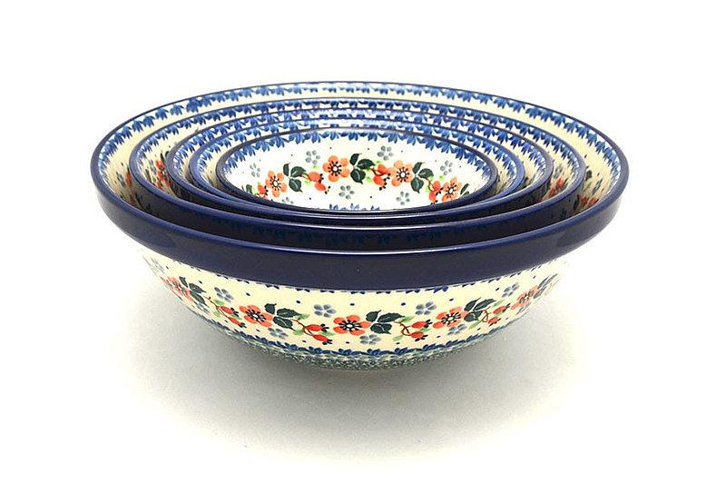 Ceramika Artystyczna Polish Pottery Nesting Bowl Set - Cherry Blossom S05-2103a (Ceramika Artystyczna)