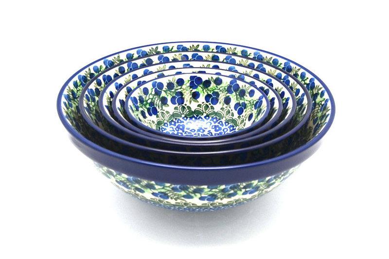Ceramika Artystyczna Polish Pottery Nesting Bowl Set - Huckleberry S05-1413a (Ceramika Artystyczna)