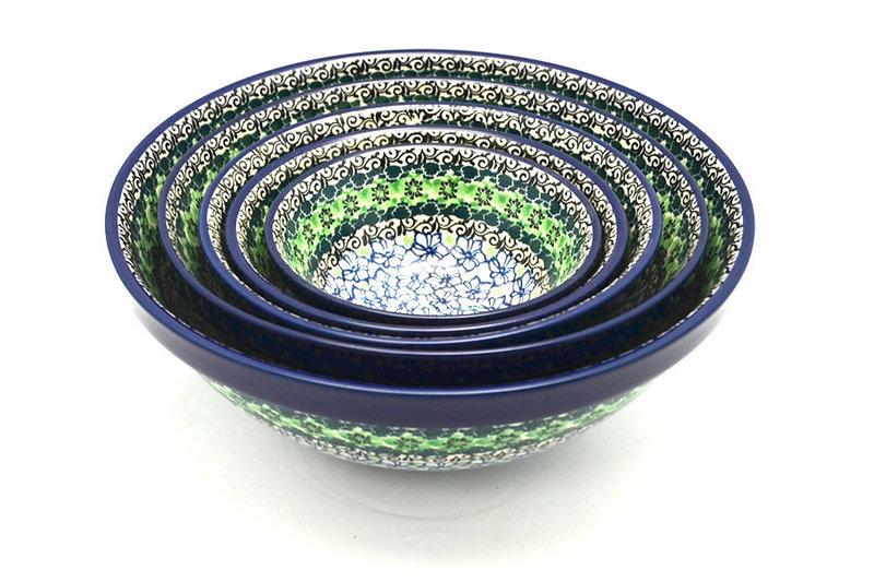 Ceramika Artystyczna Polish Pottery Nesting Bowl Set - Kiwi S05-1479a (Ceramika Artystyczna)