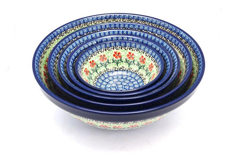 Polish Pottery Nesting Bowl Set - Maraschino