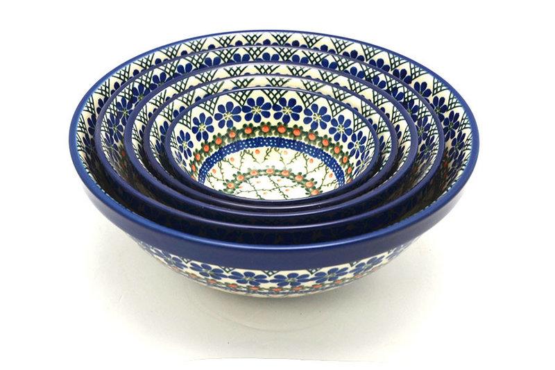 Ceramika Artystyczna Polish Pottery Nesting Bowl Set - Primrose S05-854a (Ceramika Artystyczna)