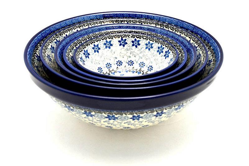 Ceramika Artystyczna Polish Pottery Nesting Bowl Set - Silver Lace S05-2158a (Ceramika Artystyczna)
