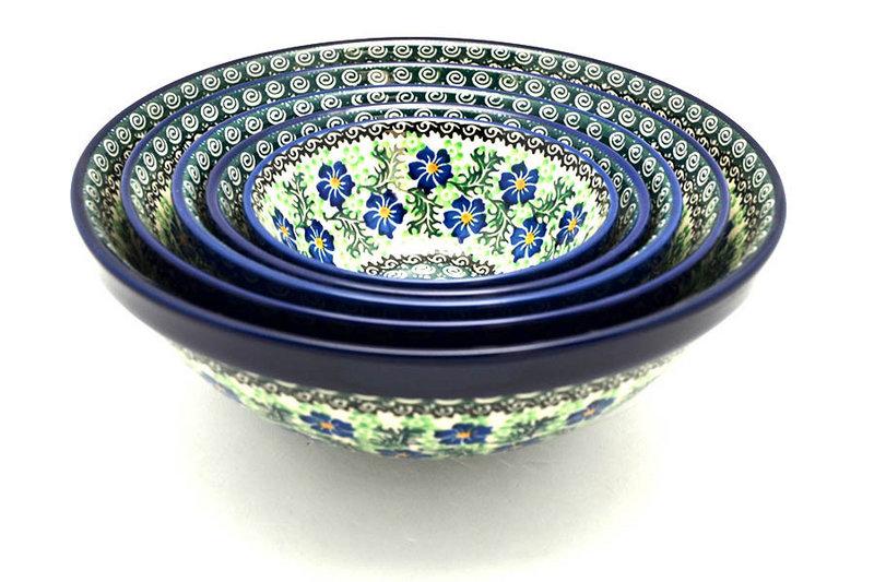 Ceramika Artystyczna Polish Pottery Nesting Bowl Set - Sweet Violet S05-1538a (Ceramika Artystyczna)