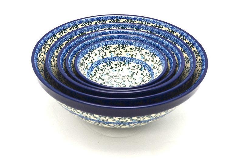 Ceramika Artystyczna Polish Pottery Nesting Bowl Set - Terrace Vines S05-1822a (Ceramika Artystyczna)