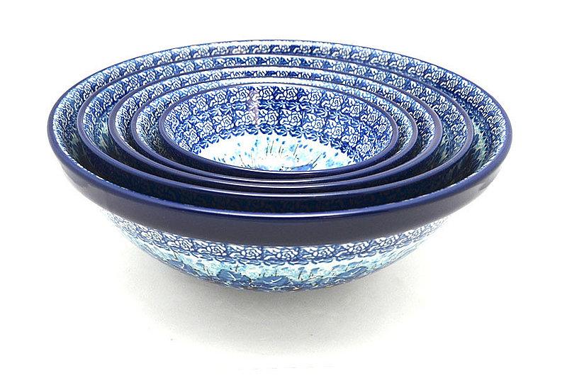 Polish Pottery Nesting Bowl Set - Unikat Signature - U3639