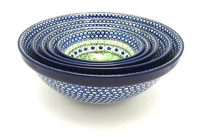 Ceramika Artystyczna Polish Pottery Nesting Bowl Set - Unikat Signature - U408A S05-U408A (Ceramika Artystyczna)