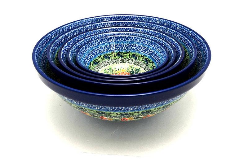Ceramika Artystyczna Polish Pottery Nesting Bowl Set - Unikat Signature - U4400 S05-U4400 (Ceramika Artystyczna)