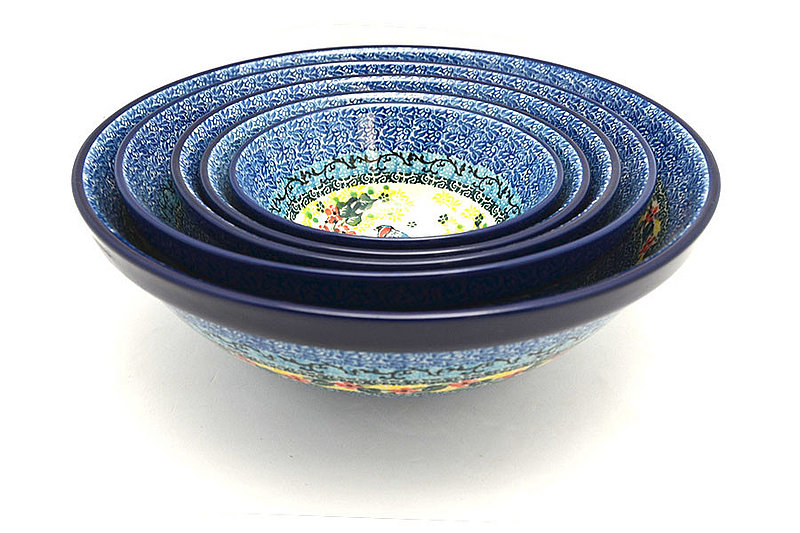 Ceramika Artystyczna Polish Pottery Nesting Bowl Set - Unikat Signature - U4512 S05-U4512 (Ceramika Artystyczna)
