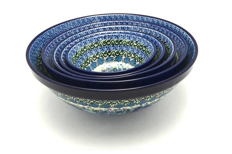 Ceramika Artystyczna Polish Pottery Nesting Bowl Set - Unikat Signature - U4520 S05-U4520 (Ceramika Artystyczna)