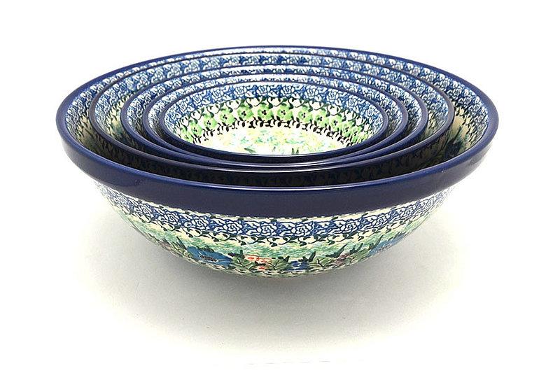 Ceramika Artystyczna Polish Pottery Nesting Bowl Set - Unikat Signature - U4572 S05-U4572 (Ceramika Artystyczna)