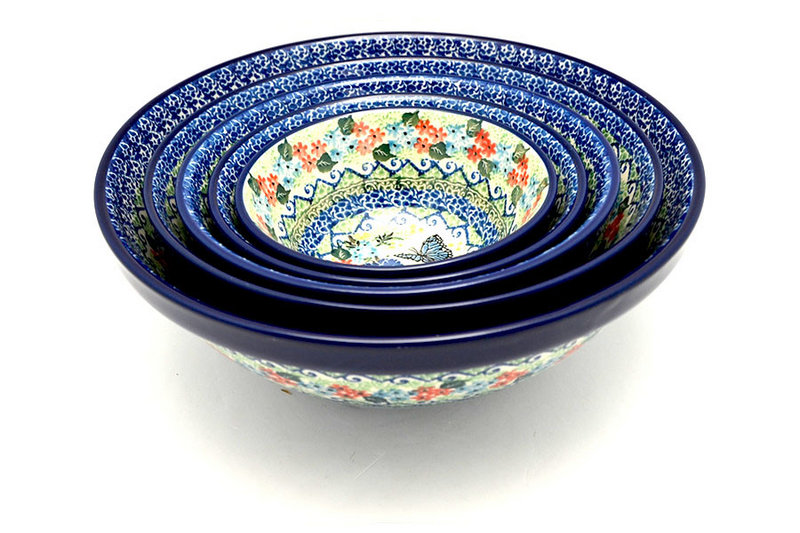 Ceramika Artystyczna Polish Pottery Nesting Bowl Set - Unikat Signature - U4600 S05-U4600 (Ceramika Artystyczna)
