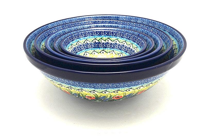 Ceramika Artystyczna Polish Pottery Nesting Bowl Set - Unikat Signature - U4610 S05-U4610 (Ceramika Artystyczna)