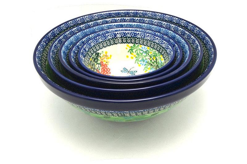 Ceramika Artystyczna Polish Pottery Nesting Bowl Set - Unikat Signature - U4612 S05-U4612 (Ceramika Artystyczna)