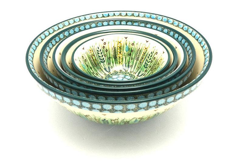 Ceramika Artystyczna Polish Pottery Nesting Bowl Set - Unikat Signature - U803 S05-U0803 (Ceramika Artystyczna)