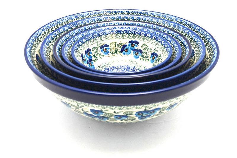 Ceramika Artystyczna Polish Pottery Nesting Bowl Set - Winter Viola S05-2273a (Ceramika Artystyczna)