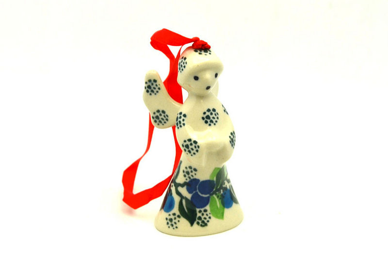 Ceramika Artystyczna Polish Pottery Ornament - Angel - Blue Berries C67-1416a (Ceramika Artystyczna)
