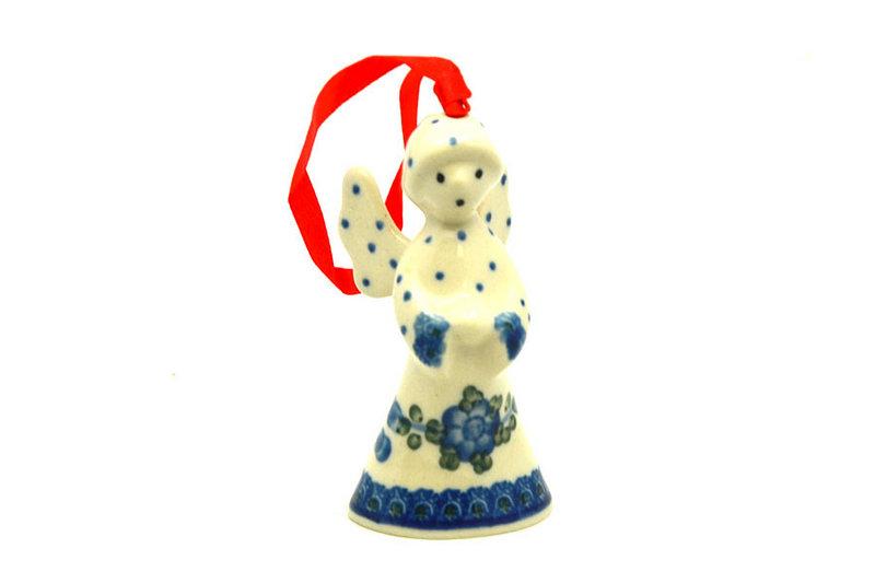 Ceramika Artystyczna Polish Pottery Ornament - Angel - Blue Poppy C67-163a (Ceramika Artystyczna)