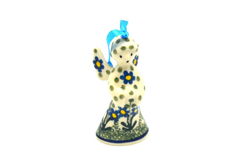 Ceramika Artystyczna Polish Pottery Ornament - Angel - Blue Spring Daisy C67-614a (Ceramika Artystyczna)