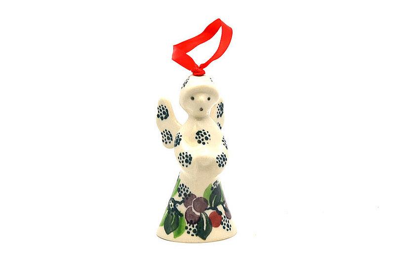 Ceramika Artystyczna Polish Pottery Ornament - Angel - Burgundy Berry Green C67-1415a (Ceramika Artystyczna)