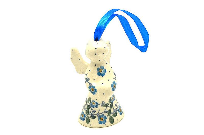 Ceramika Artystyczna Polish Pottery Ornament - Angel - Forget-Me-Knot C67-2089a (Ceramika Artystyczna)