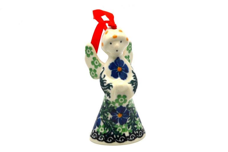 Ceramika Artystyczna Polish Pottery Ornament - Angel - Sweet Violet C67-1538a (Ceramika Artystyczna)