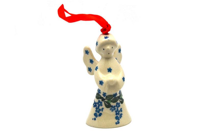 Ceramika Artystyczna Polish Pottery Ornament - Angel - Wisteria C67-1473a (Ceramika Artystyczna)