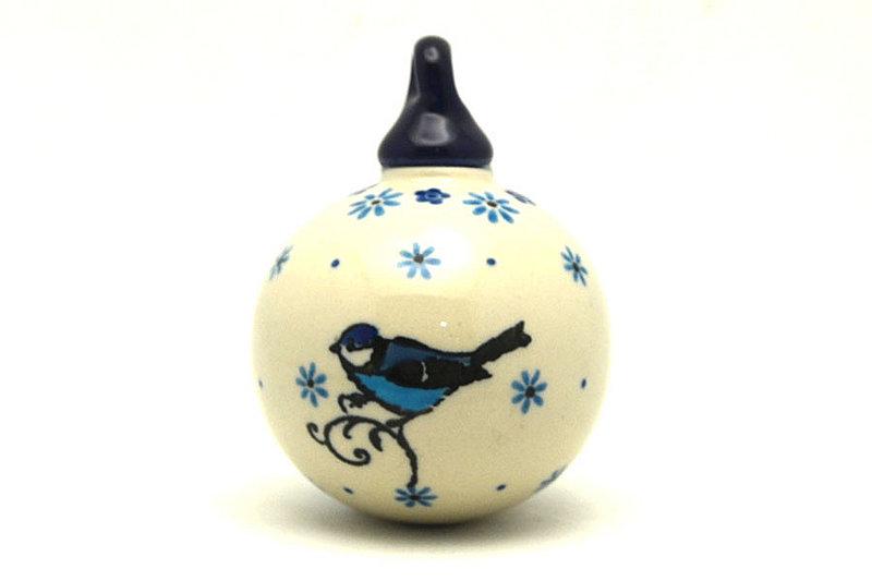 Ceramika Artystyczna Polish Pottery Ornament - Ball - Bluebird 186-2529a (Ceramika Artystyczna)