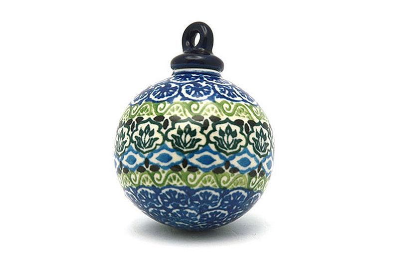 Ceramika Artystyczna Polish Pottery Ornament - Ball - Tranquility 186-1858a (Ceramika Artystyczna)