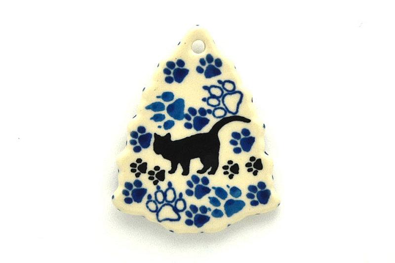 Ceramika Artystyczna Polish Pottery Ornament - Christmas Tree - Boo Boo Kitty A87-1771a (Ceramika Artystyczna)