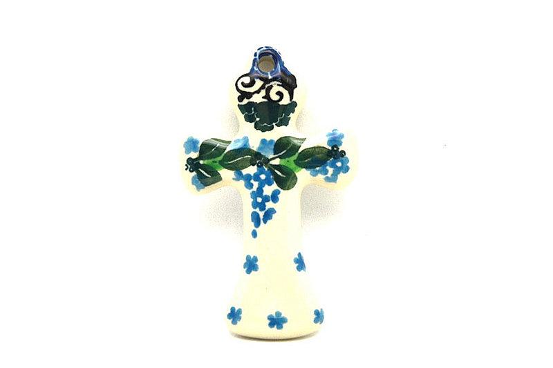 Ceramika Artystyczna Polish Pottery Ornament - Cross - Wisteria 612-1473a (Ceramika Artystyczna)